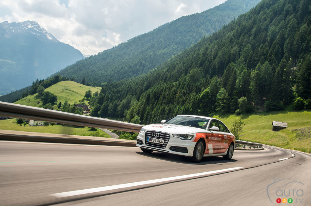 Audi A6 TDI ultra crosses 14 countries on a single tank