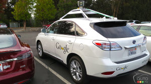 One of Google's self-driving cars is rear-ended, 3 people injured