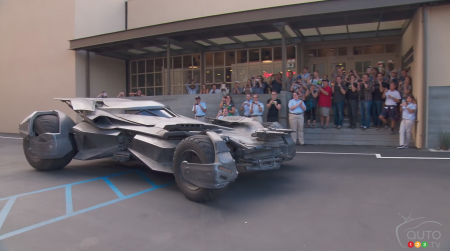 All-new Batmobile arrives at Warner Bros. Studios