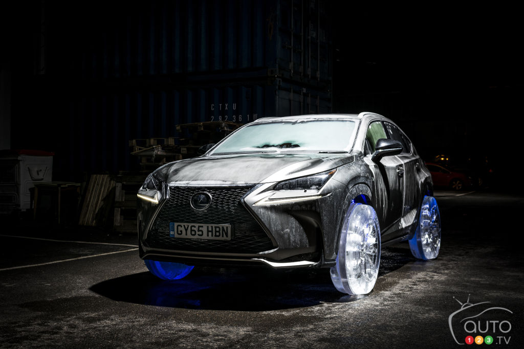 Lexus NX Rides on Set of Wheels Made of Ice
