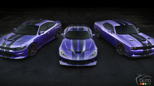 Dodge Charger and Challenger SRT Hellcat models get their stripes