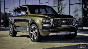 Detroit 2016: Kia Telluride concept classes things up
