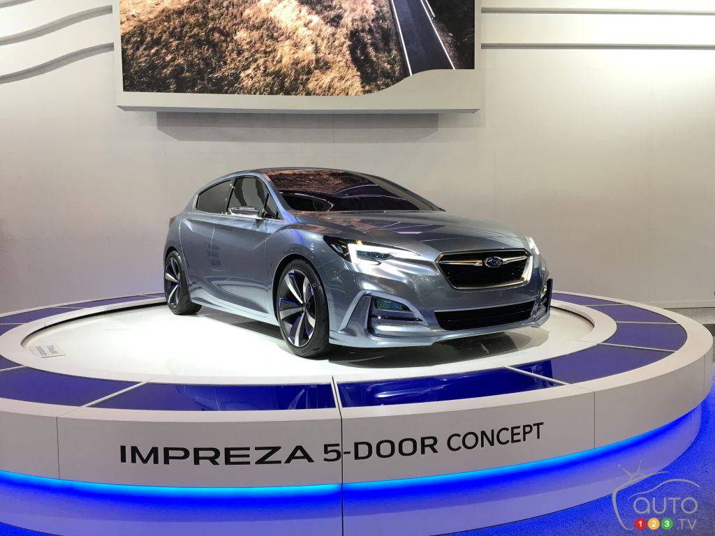 subaru impreza 5 door concept unveiled in montreal | car