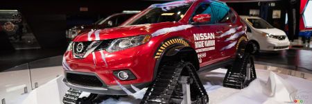 new nissan rogue warrior tackles winter with tracks