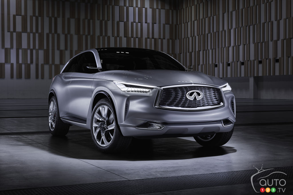 Los Angeles 2016: Infiniti shows QX Sport Inspiration concept, VC-Turbo engine (videos)