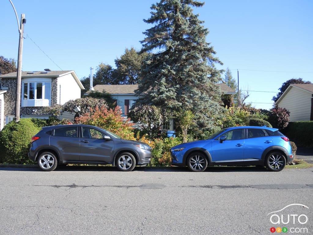 Mazda cx 3 size comparison