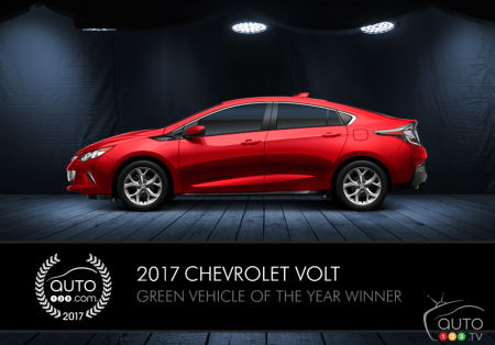2017 Chevy Volt, Auto123.com's Green Vehicle of the Year
