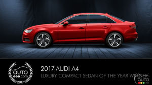 2017 Audi A4, Auto123.com's Luxury Compact Sedan of the Year