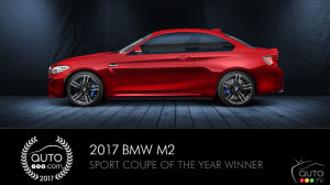 BMW M2, Auto123.com's Sport Coupe of the Year, wins two more awards