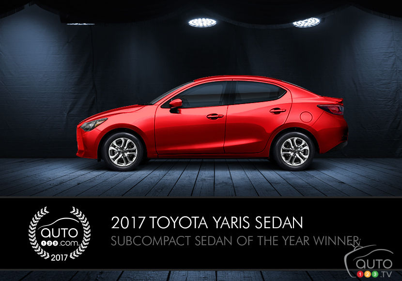 2017 Toyota Yaris is Auto123.com's Subcompact Sedan of the Year
