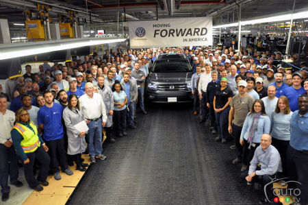 2018 Volkswagen Atlas production begins in Tennessee