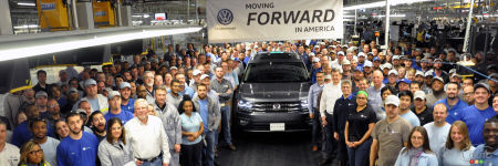 Le Volkswagen Atlas 2018 entre en production au Tennessee