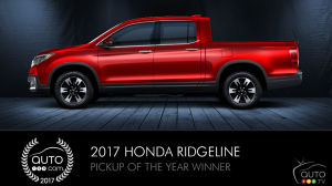 2017 Honda Ridgeline is Auto123.com's Pickup of the Year