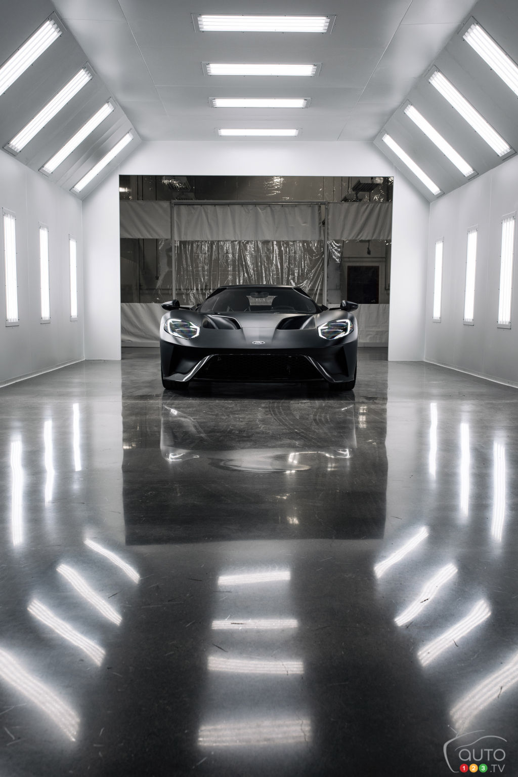 New 2017 Ford GT, winner at Le Mans, starts to roll off the assembly line