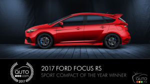 Ford Focus RS, Auto123.com's Sport Compact of the Year, and Ford Europe's Snowkhana 5 (video)