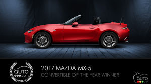 Mazda MX-5 is Auto123.com's 2017 Convertible of the Year