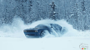 Watch the Dodge Challenger GT with AWD have fun in the snow (video)