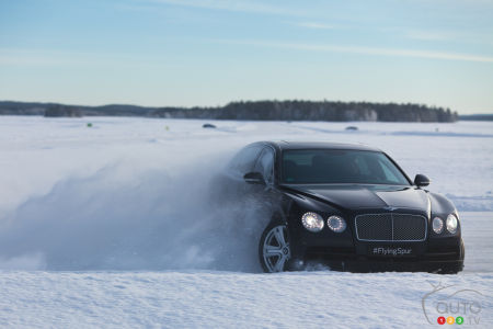 Bentley's one-of-a-kind ice driving experience (video)