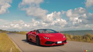 Lamborghini Huracán Spyder hits the Island of Sylt (video)