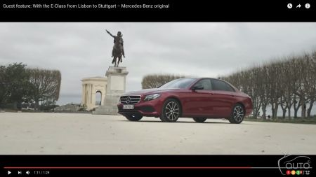 Escape with the new Mercedes-Benz E-Class from Lisbon to Stuttgart (video)
