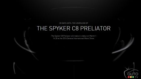 Spyker C8 Preliator to make world debut at Geneva Auto Show