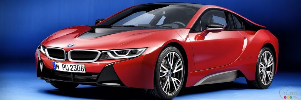 la bmw i8 protonic red edition sera d voil e gen ve actualit s automobile auto123. Black Bedroom Furniture Sets. Home Design Ideas