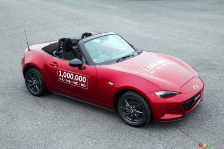 Mazda MX-5 production hits one million units