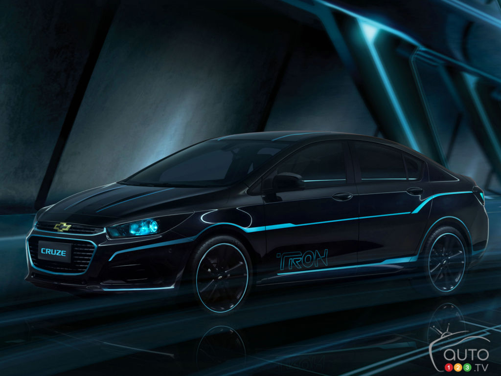 "The Chevy Cruze inspired by Disney's ""TRON: Legacy"""