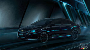 "Beijing 2016: Chevy Cruze inspired by ""TRON: Legacy"" debuts"