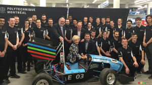 Polytechnique Montreal students create all-electric race car