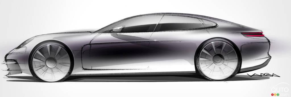 Auto123 New Cars Used Cars Auto Shows Car Reviews Amp Car News All-new Porsche Panamera teaser   Car News   Auto123