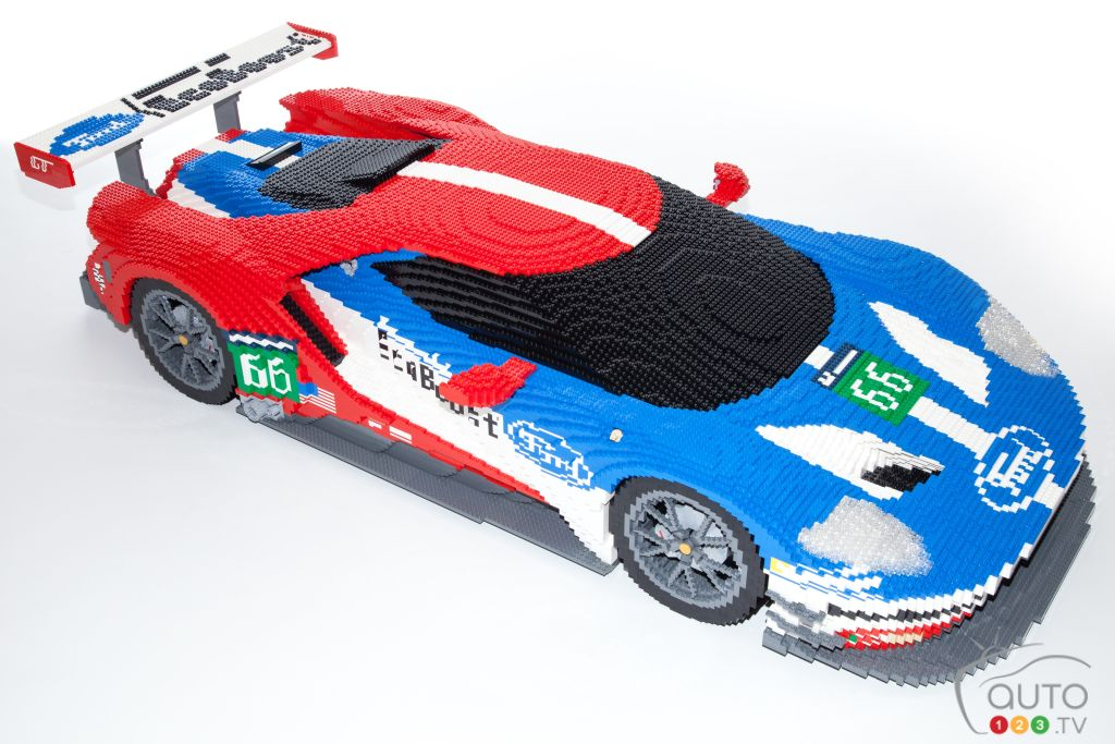 Ford GT built from 40,000 LEGO pieces on display at Le Mans