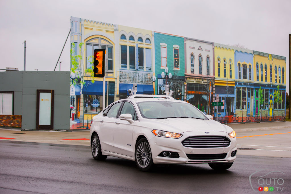 An autonomous Ford Fusion tested in USA