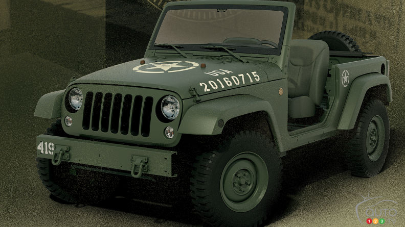 Jeep Wrangler 75th Salute concept full of Willys history