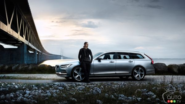 Volvo V90 wishes happy retirement to soccer star Zlatan Ibrahimović