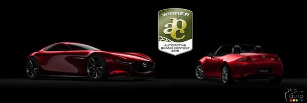 Mazda MX-5, RX-Vision concept win Automotive Brand Contest awards