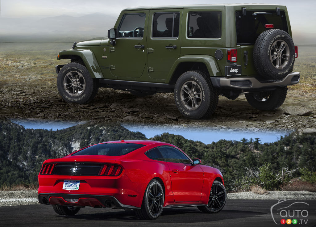 2016 Ford Mustang V6 Convertible and 2016 Jeep Wrangler Unlimited Sport S