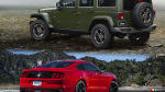 Ford Mustang décapotable vs Jeep Wrangler Unlimited 2016