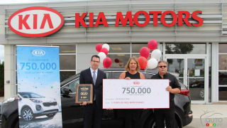 Kia sells 750,000th car in Canada