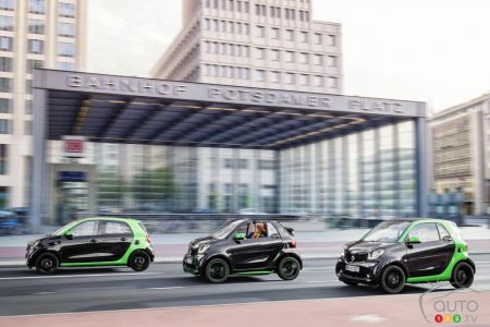 Paris 2016: Entire 2018 smart fortwo family goes electric