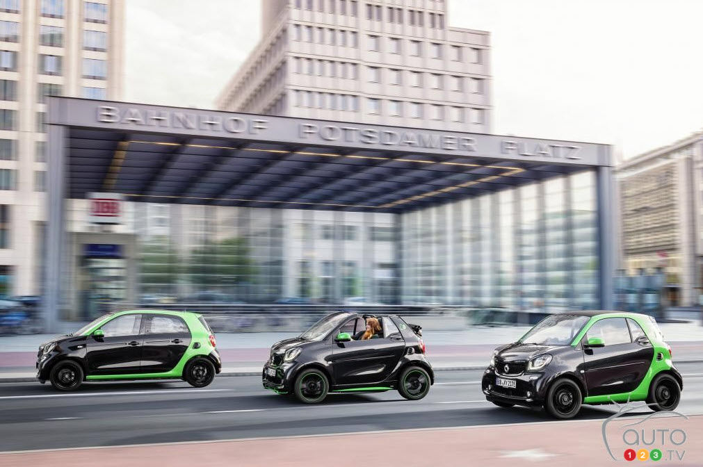 Paris 2016 : la smart fortwo électrique 2018 en vedette
