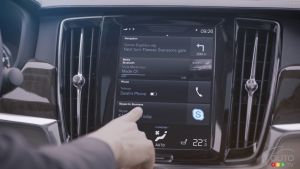 La Série 90 de Volvo maintenant équipée de Skype for Business