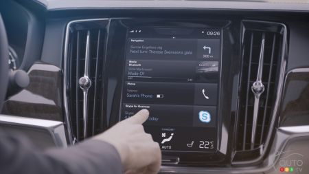 The 90 Series from Volvo to Feature Skype for Business