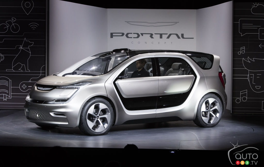 CES 2017: The Fully Electric Chrysler Portal Concept Debuts