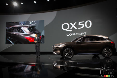Detroit 2017: Infiniti QX50 Concept world premiere (video)