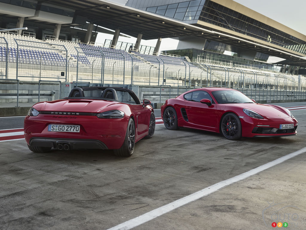 The new 2018 Porsche 718 Boxster GTS and 718 Cayman GTS