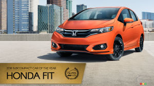 Honda Fit, Auto123.com's 2018 Subcompact Car of the Year