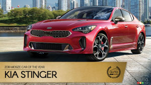 Kia Stinger, Auto123.com's 2018 Midsize Car of the Year