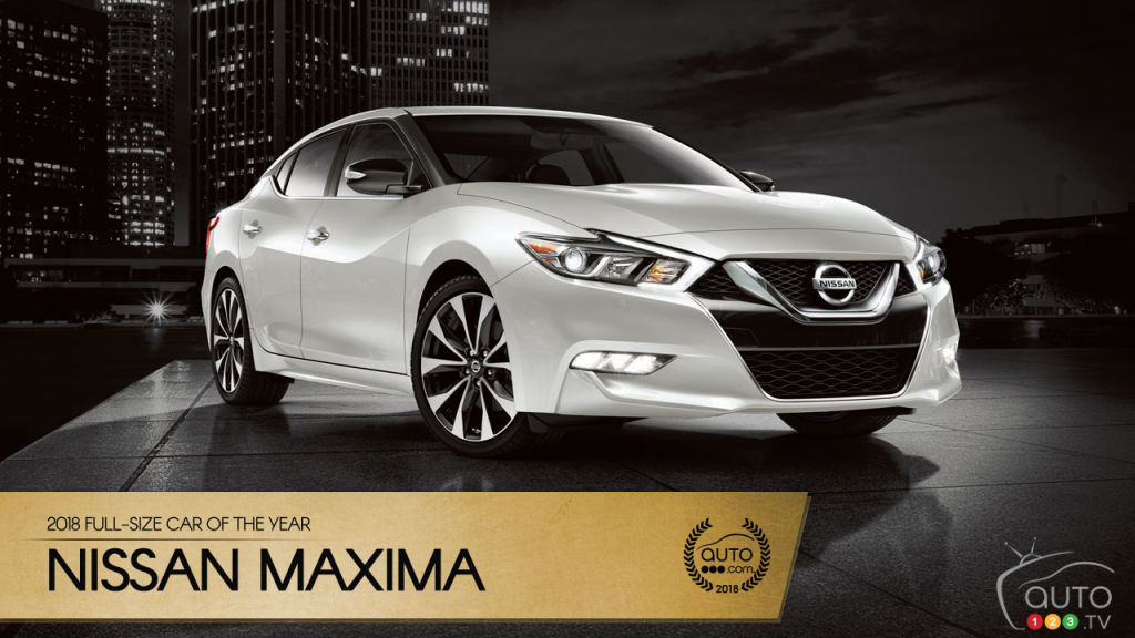 Nissan Maxima, Auto123.com's 2018 Full-Size Sedan of the Year
