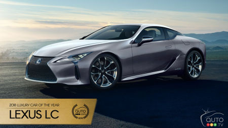 Lexus LC, Auto123.com's 2018 Luxury Car of the Year